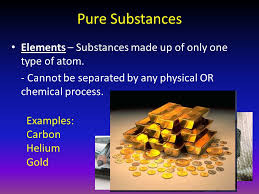 pure substance in chemistry
